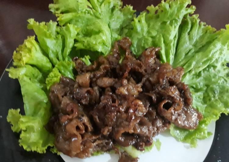 Resep Simple Sliced Beef Yakiniku Teriyaki Blackpaper Oleh Ikawati Cookpad