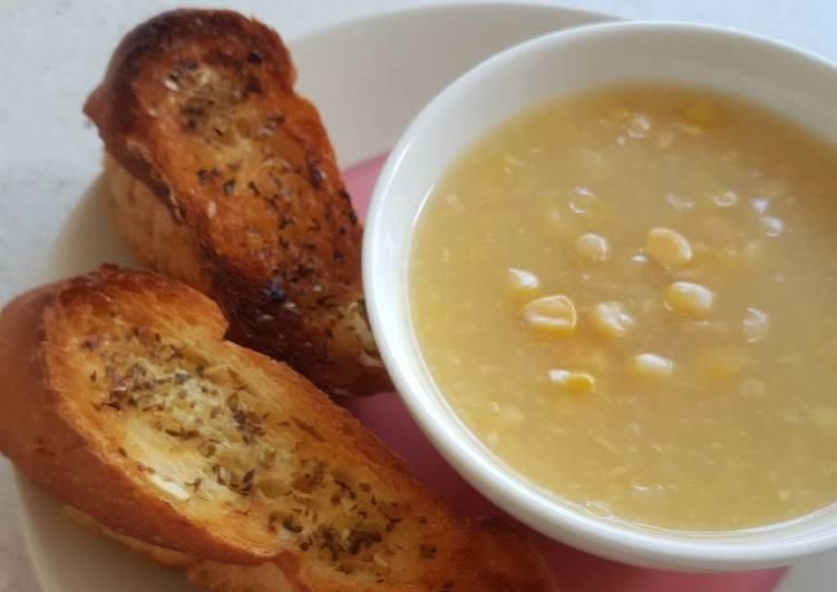 Garlic Butter Bread With Sweet Corn Dip