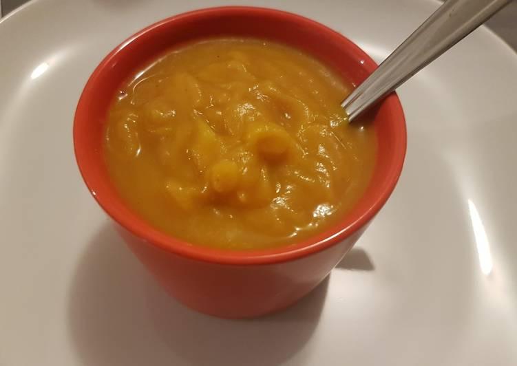 recette Soupe patate douce lait de coco le délicieux