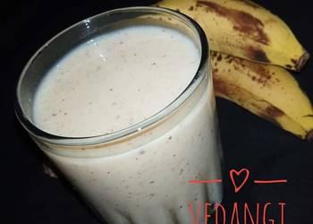 How to Cook Yummy Banana Milkshake Sugarfree