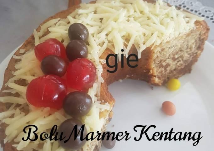 Cake Marmer kentang#ResepTelurkuMendunia