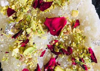 Easiest Way to Make Appetizing Rose coconut Halwa