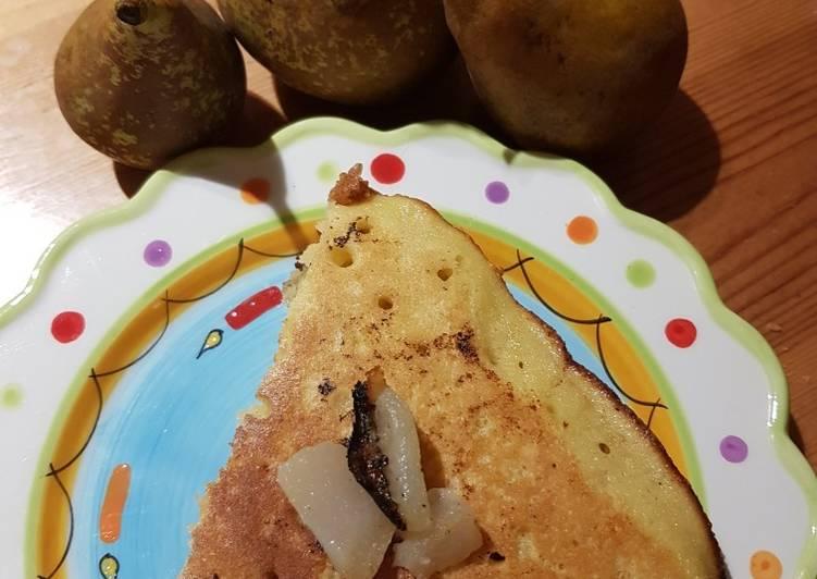 Gâteau aux poires à la poêle