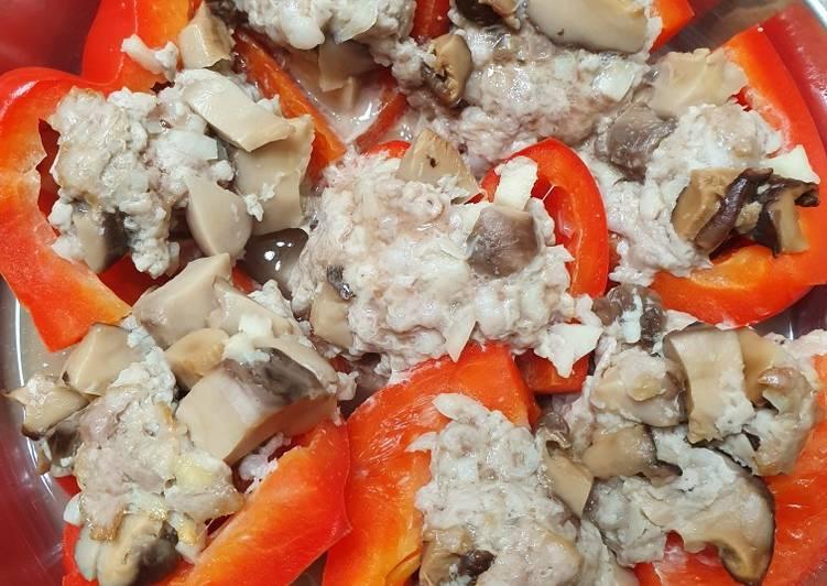 Steps to Prepare Speedy Steamed pork pepper bell