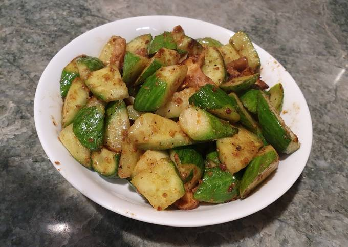 沙茶黃瓜(Vegan)BBQ source with cucumber