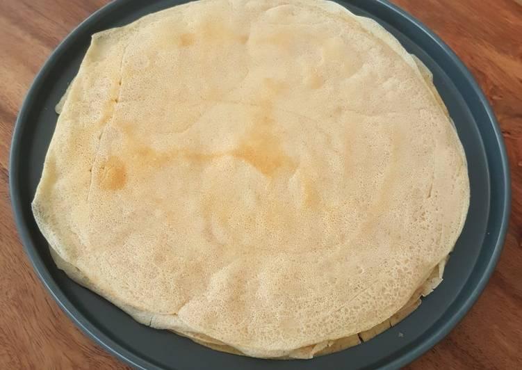 Pâte à crêpe à la farine semi complète