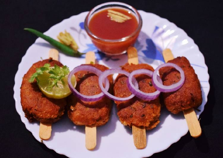 15 Minute Recipe of Homemade Paneer Seekh Kabab