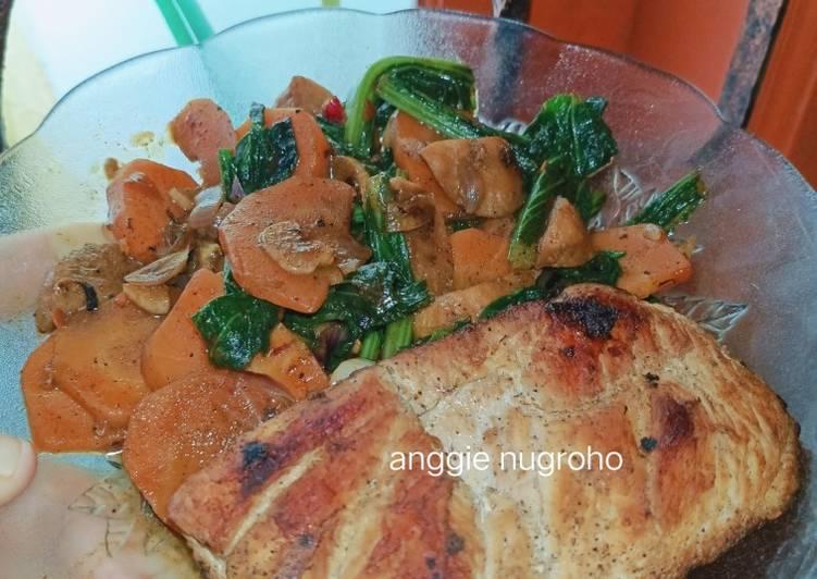 #8 GERD/MAAG AYAM PANGGANG SAYUR WORTEL SAWI ALA DIET MURAH - cookandrecipe.com