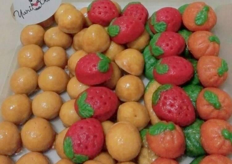 Nastar lembut bentuk buah - cookandrecipe.com