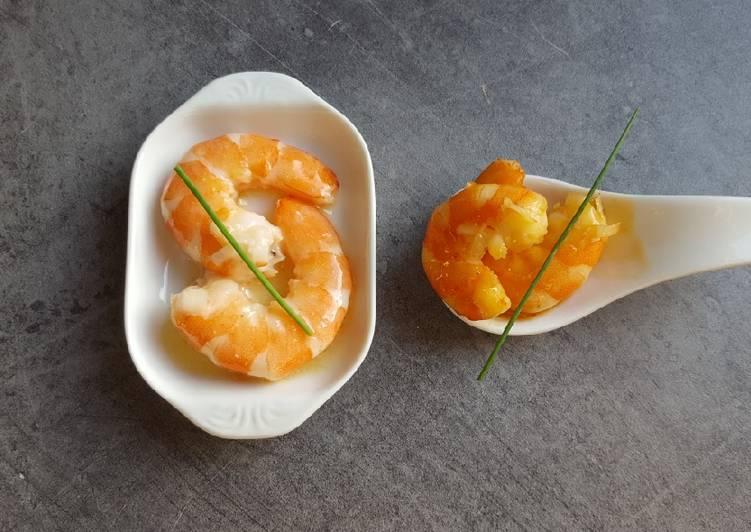 Duo de crevettes apéritives