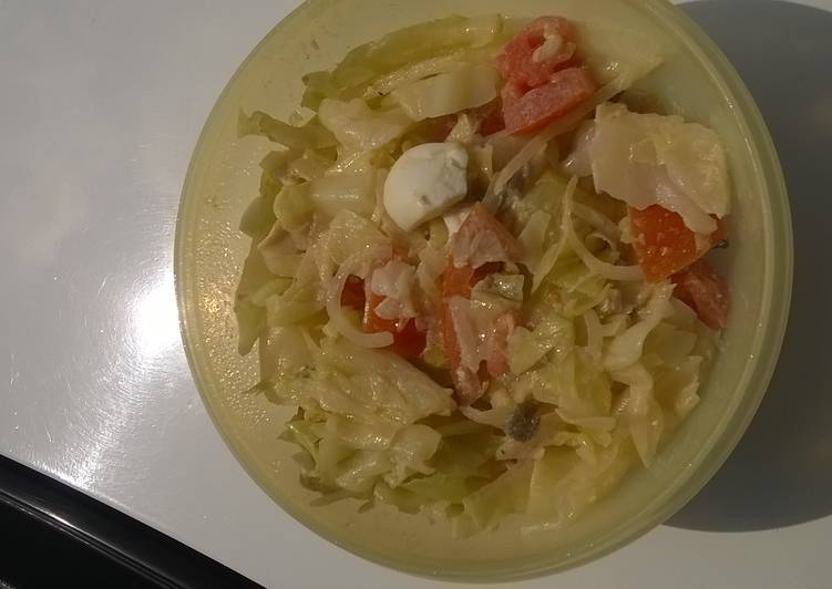 How to Prepare Top-Rated Cabbage with tomato salad