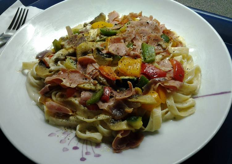 Recipe of Top-Rated Tagliatelle Corgette Carbonara