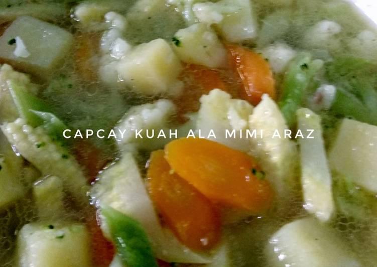 Resep Capcay Kuah (full sayuran, anti alergi, vegetarian) yang…