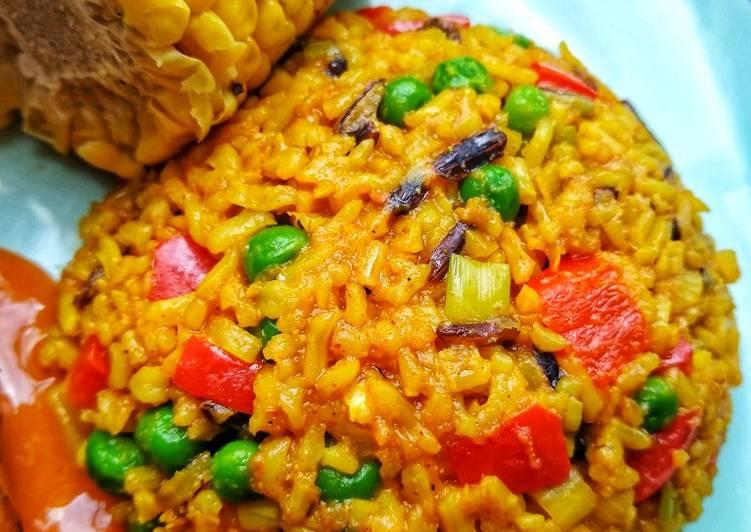 Savoury Spicy Rice (Nandos Style)