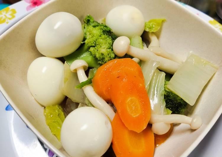 Capcay sayur telur puyuh