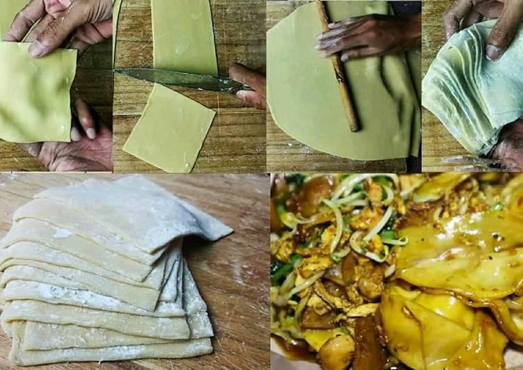 Resep Kulit Pangsit Homemade Simple (Tanpa Mesin)