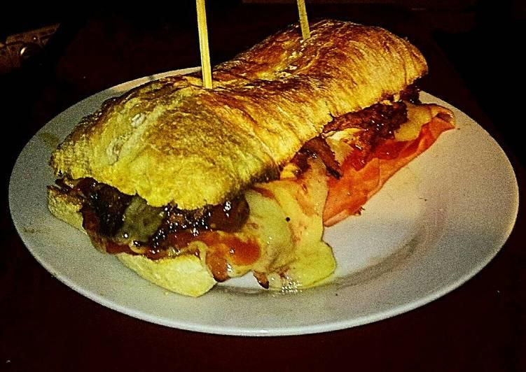 Recipe of Speedy Tex's Chicken & Ham Toastie 🐔🐷🍞