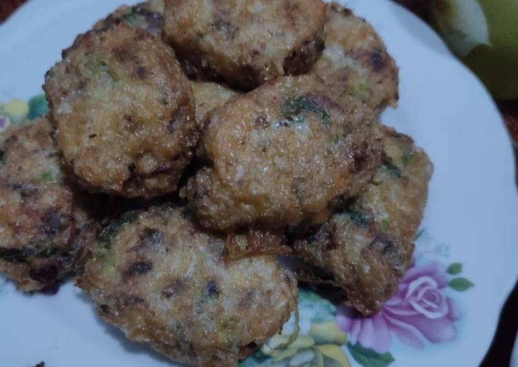 Perkedel Nastang(nasi kentang) daging