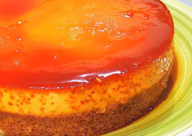 How to Make Ultimate Custard Cake / Flan Cake