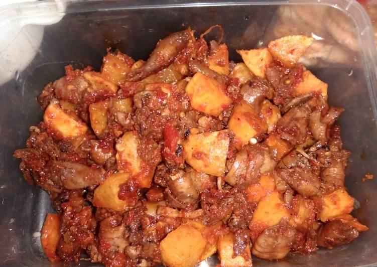 Sambal kentang cumi asin