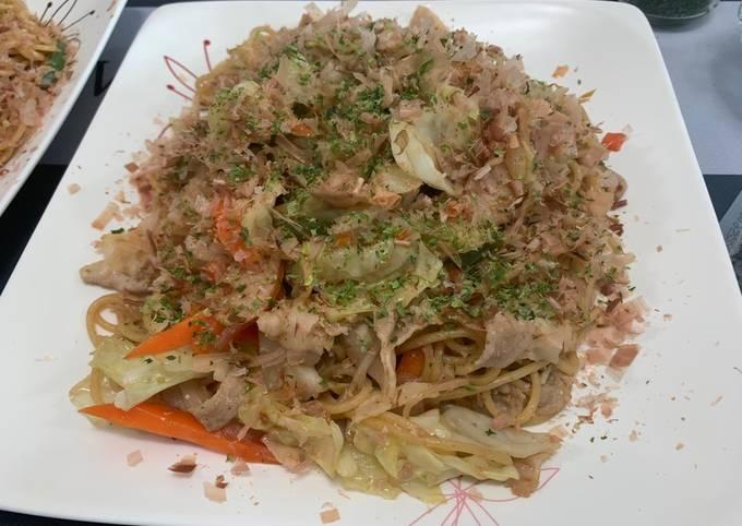 Recipe: Tasty Japanese style Sauce Fried Noodle (Yakisoba) made from Pasta