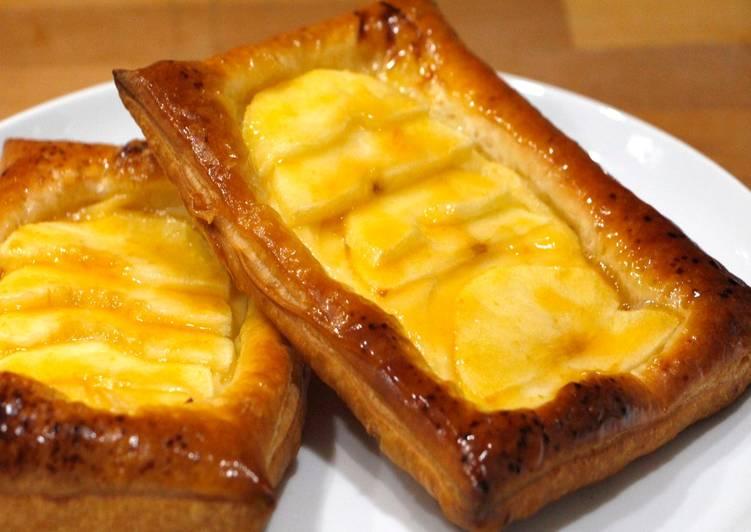 Hojaldre de manzana y crema