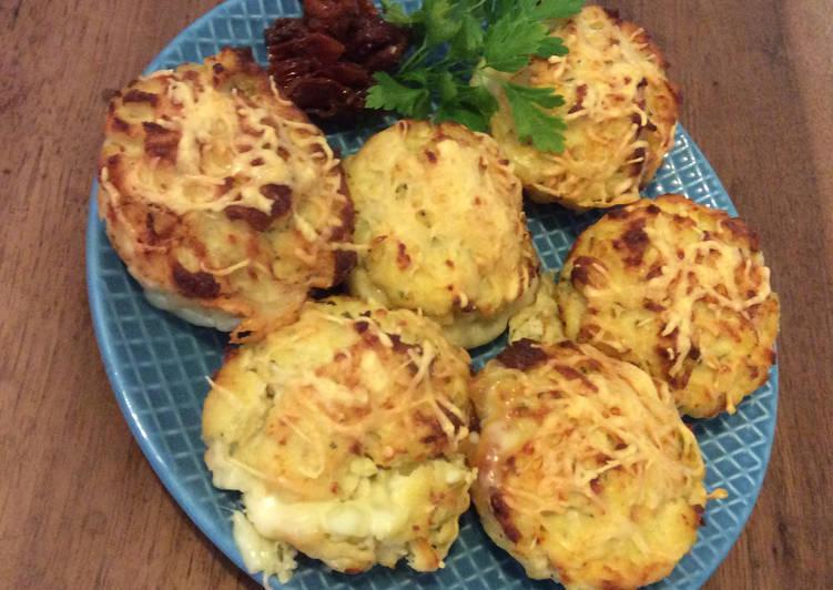 Muffins salés au Poulet et à la Tomme du Sarladais (version végétarienne possible)