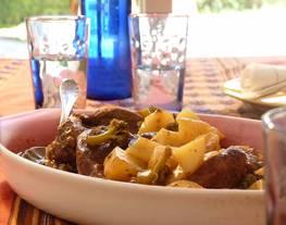 Carne al horno con Papas y Brócoli