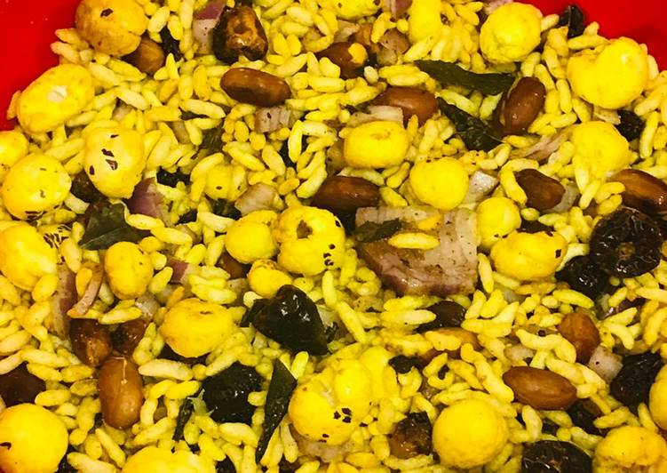 Easiest Way to Cook Yummy Puffed rice & fox nuts mixture # it's snack time #