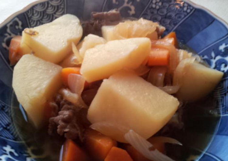 How to Prepare Yummy Nikujaga (Simmered meat and potatoes)