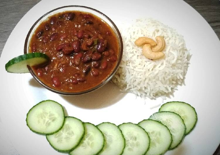 Recipe of Award-winning Rajma Chawal/ Kidney beans curry with Rice
