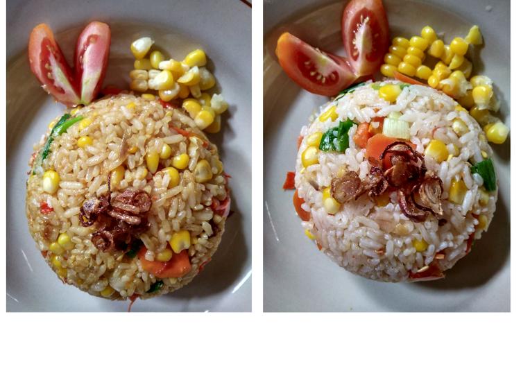 Nasi Goreng Jagung Manis, No Egg, No MSG