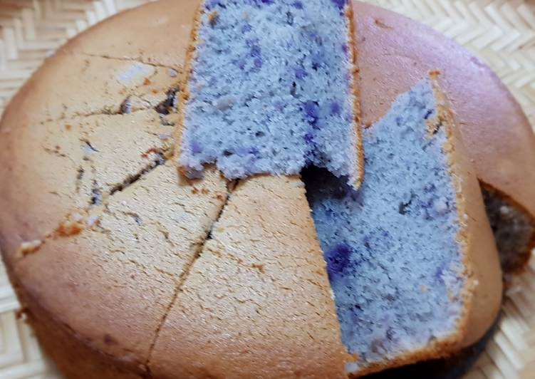 Purple Sweet Potato Sponge Cake