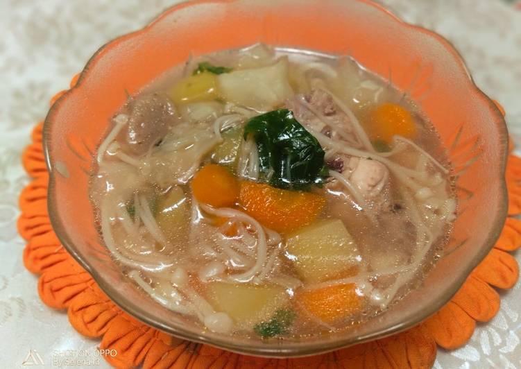 resep  ayam rempah  enak  mudah aneka resep sop enak  mudah Resepi Sup Ayam Kiub Maggi Enak dan Mudah
