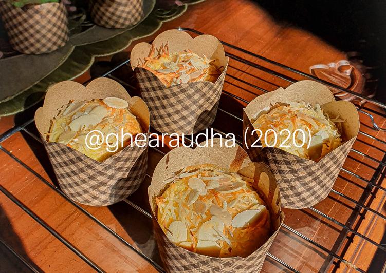 Cupcake Keju Fluffy (Bolu Hongkong)