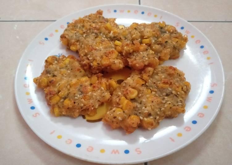 Perkedel jagung keju crispy