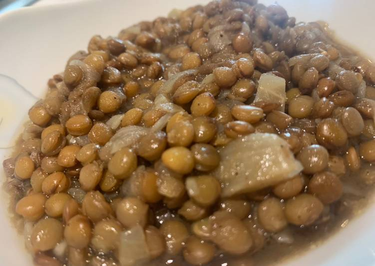 Recipe of Homemade Lentils