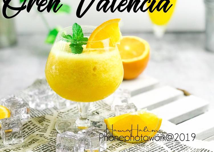 Juice Oren Valencia #marathonraya #minuman #minggu2 - resepipouler.com