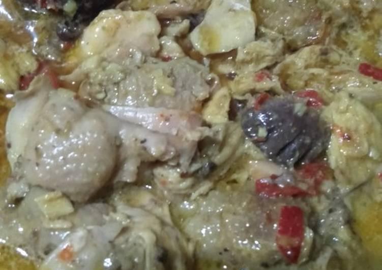 Ayam suir santan