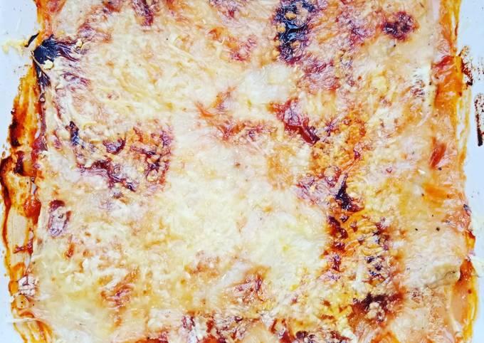 Lasagne de courgette gratinée
