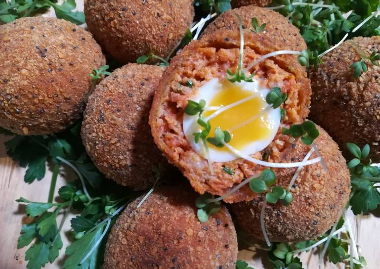 Step-by-Step Guide to Make Favorite Scotched Quail Egg with Chorizo