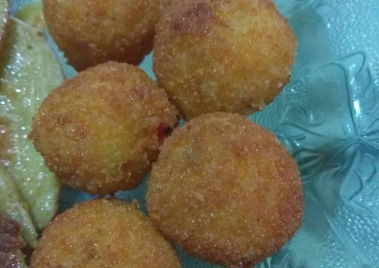 Resep Bola bola kentang keju camilan anak 2 tahun Bikin Ngiler