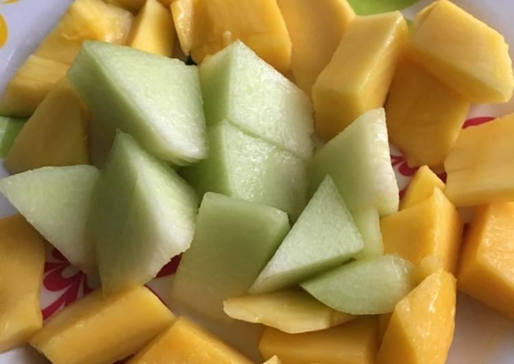 Recipe of Any-night-of-the-week Mango melon salad