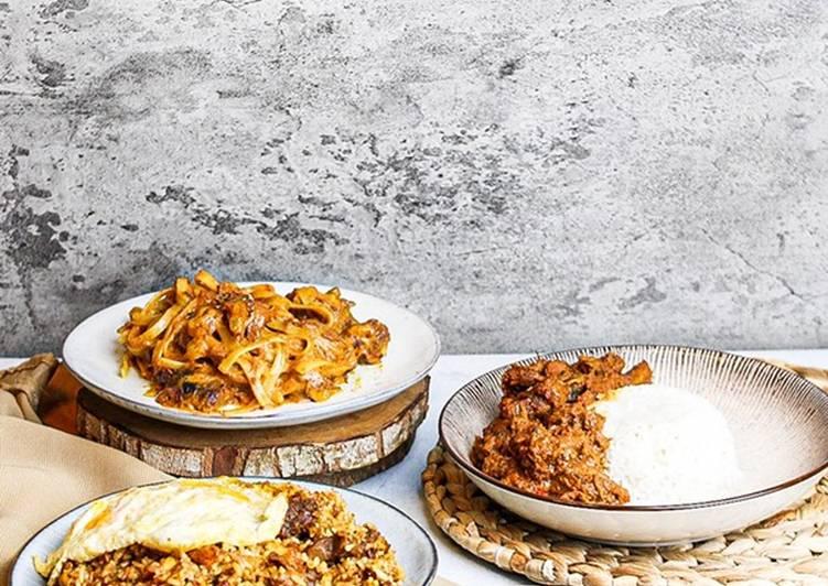 Resep MASAKAN RENDANG KREATIF ANTI RIBET ❤️ Nasi goreng, spaghetti, nasi anget 👌🏻 Yang Simple Lezat