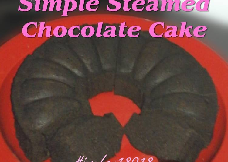 Simple Steamed Chocolate Cake (no mixer no oven)