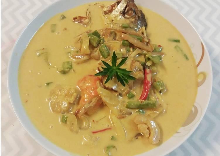 Gulai Kuning Ikan Masin #minggu9 - resepipouler.com