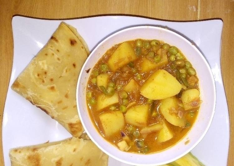 Potato and pea curry Finding Nutritious Fast Food