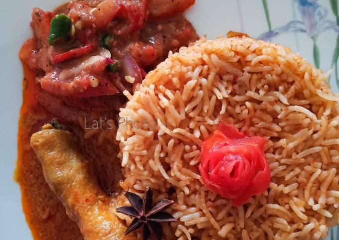 Nasi Tomato, Ayam Masak Merah Dan Air Asam Kerisik