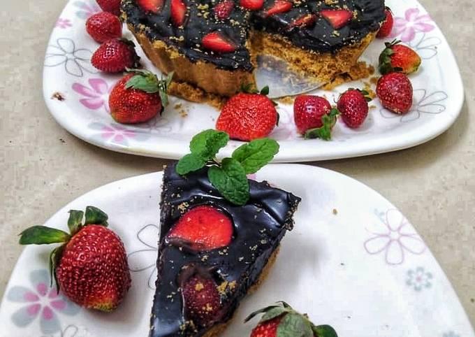 Simple Way to Make Gordon Ramsay Eggless chocolate Tart Cake