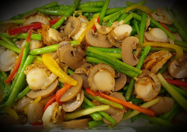 Recipe: Appetizing Scallops Mixed 带子炒杂